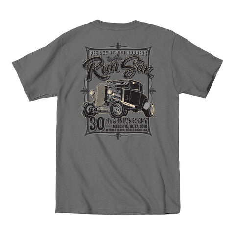 2018 Run to the Sun official car show event t-shirt charcoal Myrtle Beach, SC