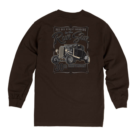 SALE - 2018 Run to the Sun official car show event long sleeve t-shirt brown Myrtle Beach, SC