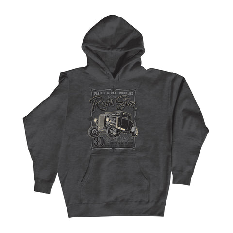 2018 Run to the Sun official car show event charcoal hooded sweatshirt shirt Myrtle Beach