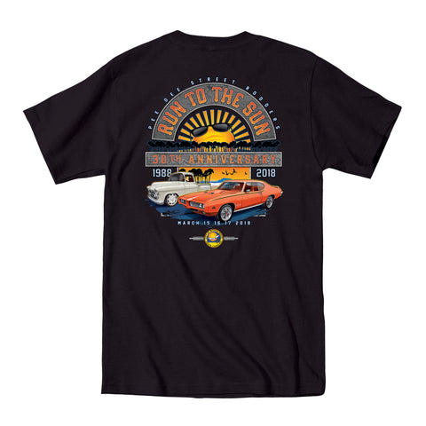 2018 Run to the Sun official car show event t-shirt black Myrtle Beach, SC