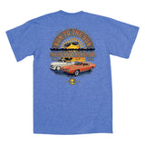 2018 Run to the Sun official car show event t-shirt heather royal Myrtle Beach, SC