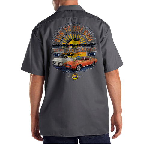 2018 Run to the Sun official car show event charcoal shop shirt Myrtle Beach, SC