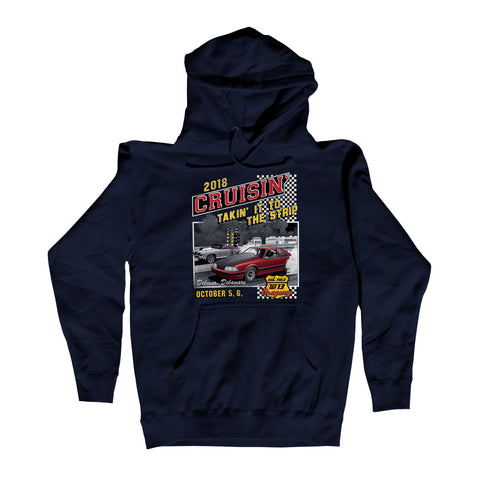 2018 Cruisin Endless Summer official car show hoodie Navy Ocean City MD - US 13 Dragway