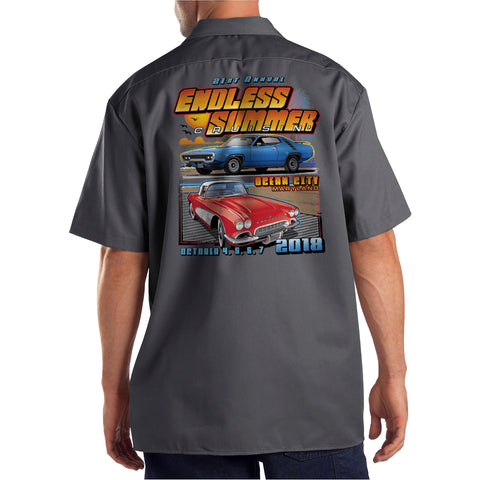 2018 Cruisin Endless Summer official car show event shop shirt charcoal Ocean City MD