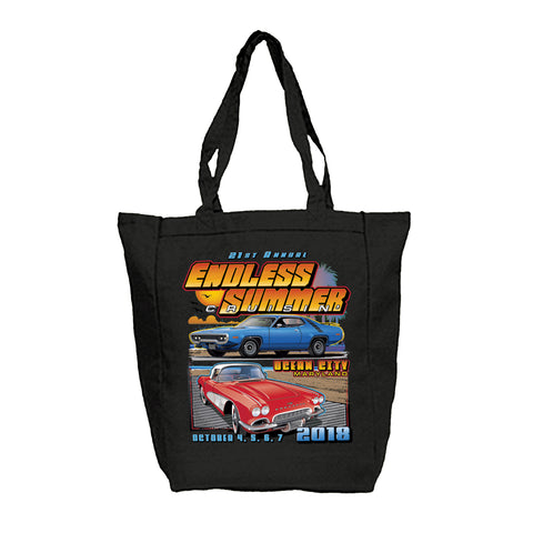 SALE - 2018 Endless Summer Cruisin Ocean City official car show black tote bag