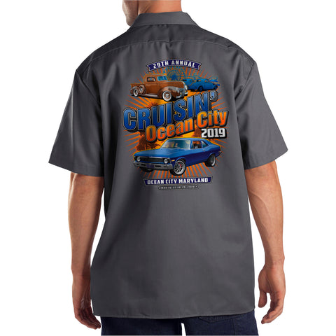 2019 Cruisin official classic car show event shop shirt charcoal Ocean City Maryland