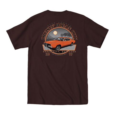 SALE - 2019 Cruisin official classic car show event t-shirt dark brown Ocean City Maryland