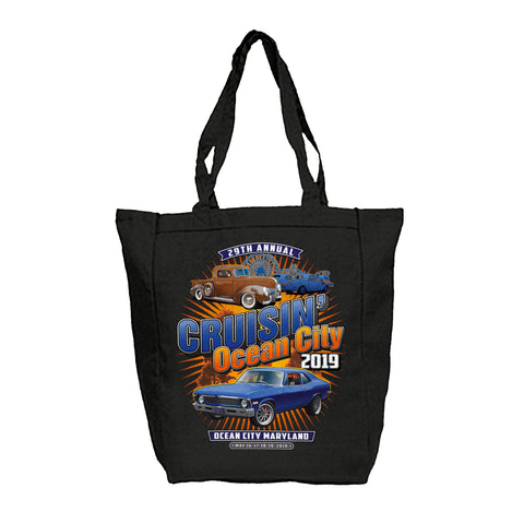2019 Cruisin Ocean City official car show black tote bag