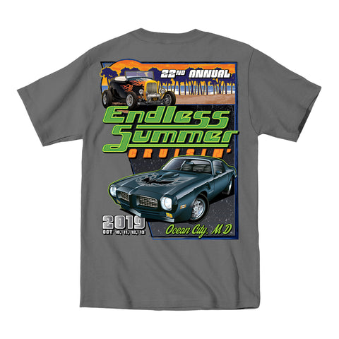 2019 Cruisin Endless Summer official car show event t-shirt charcoal Ocean City MD