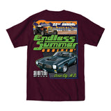 2019 Cruisin Endless Summer official car show event t-shirt maroon Ocean City MD