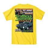2019 Cruisin Endless Summer official car show event t-shirt yellow Ocean City MD