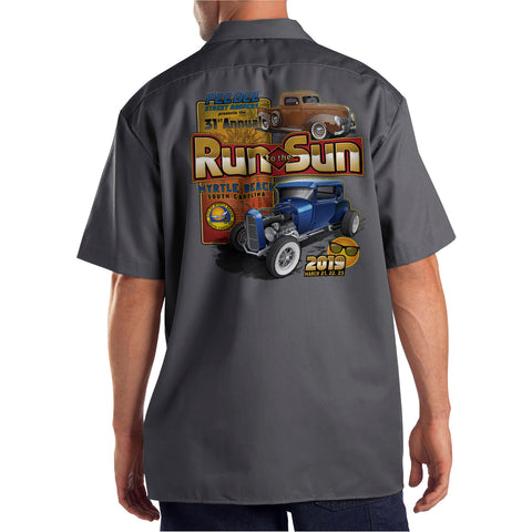 2019 Run to the Sun official car show shop shirt charcoal Myrtle Beach, SC alt