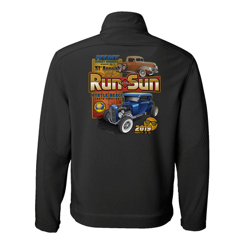 2019 Run to the Sun official car show jacket charcoal Myrtle Beach, SC