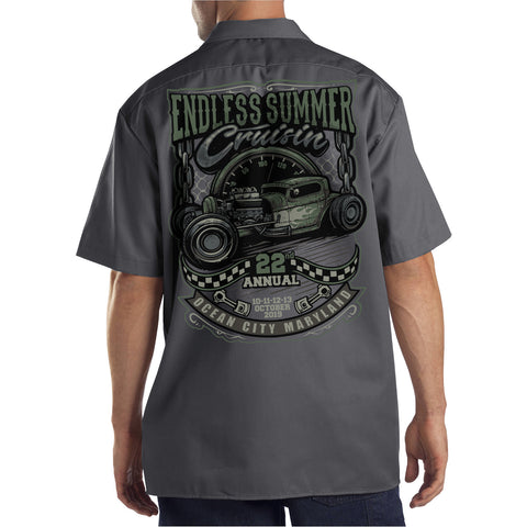 2019 Cruisin Endless Summer official car show shop shirt charcoal Ocean City MD rr