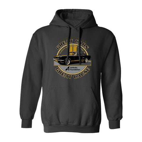 38th Annual Classic Auto Show 2021 event hooded sweatshirt charcoal gray