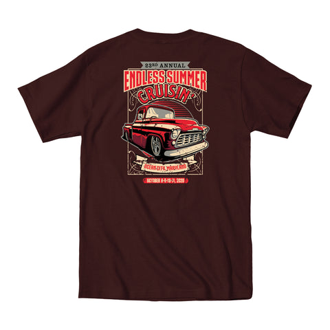 2020 Cruisin Endless Summer official car show event t-shirt brown Ocean City MD