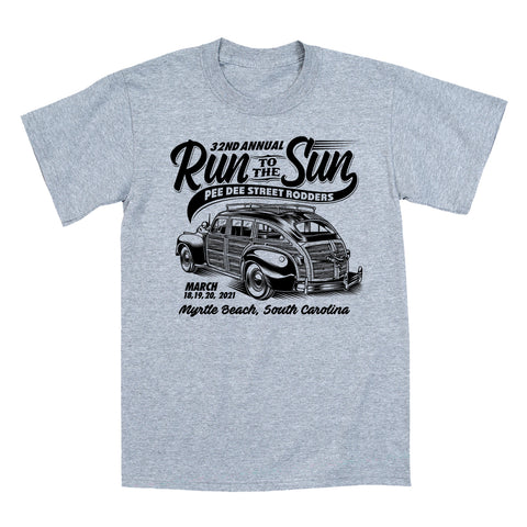 2021 Run to the Sun official car show event t-shirt gray Myrtle Beach, SC