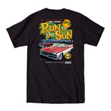 2021 Run to the Sun official car show event t-shirt black Myrtle Beach, SC