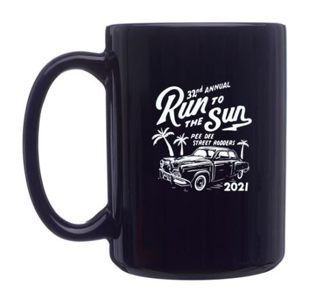 2021 Run to The Sun official car show ceramic coffee mug Myrtle Beach SC