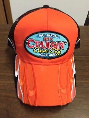 2016 Cruisin official car show event orange with black mesh Ocean City Maryland