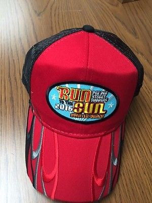 2016 Run to the Sun official car show event hat red Myrtle Beach South Carolina