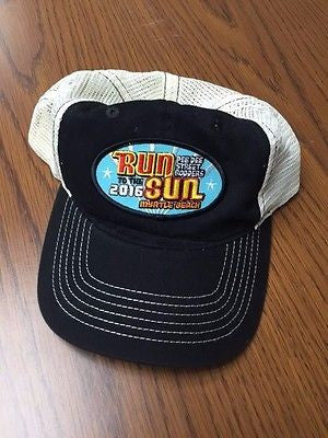 2016 Run to the Sun official car show event black trucker hat Myrtle Beach SC