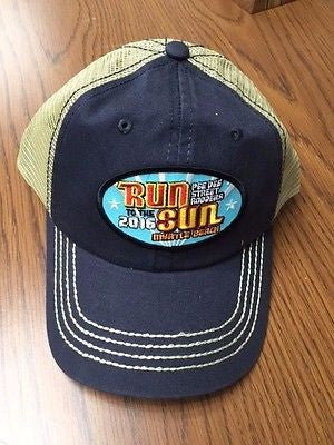 2016 Run to the Sun official car show event navy blue trucker hat Myrtle Beach SC