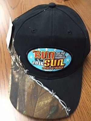 2016 Run to the Sun official car show event hat black and camo Myrtle Beach SC