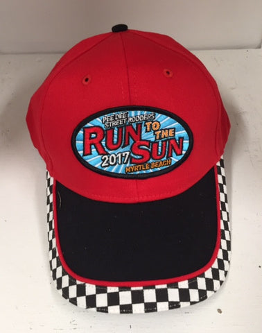2017 Run to the Sun official car show event hat red/black Myrtle Beach SC
