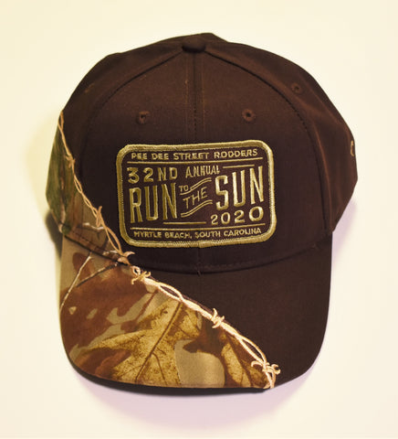 2020 Run to the Sun official car show event hat brown with camo