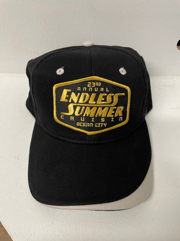 2020 Endless Summer Cruisin official car show event hat black with gray striped rim