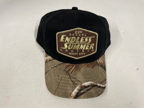 2020 Endless Summer Cruisin official car show event hat black with camo rim