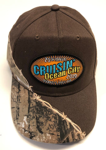 2019 Cruisin official car show event hat brown with camo Ocean City MD