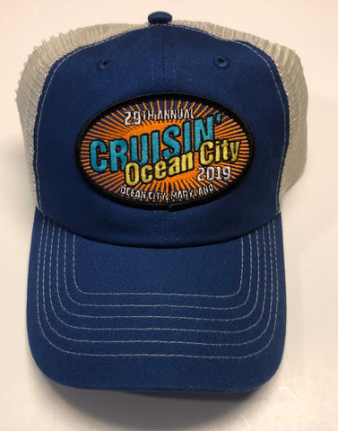 2019 Cruisin official car show event trucker royal blue and tan Ocean City MD
