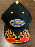 2018 Cruisin official carshow event hat black with red flame Ocean City MD