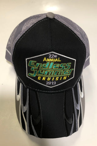 2019 Endless Summer Cruisin official car show event trucker black with gray mesh