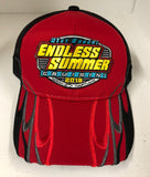 2018 Cruisin Endless Summer official car show event trucker hat red with black mesh OC MD