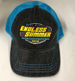 2018 Cruisin Endless Summer official car show event trucker hat gray and aqua OC MD