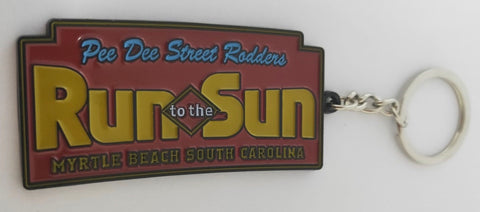 Run to The Sun official car show metal key chain Myrtle Beach SC