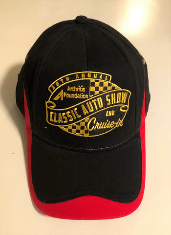 38th Annual Classic Auto Show event hat black and red
