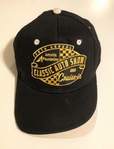 38th Annual Classic Auto Show event hat black and gray