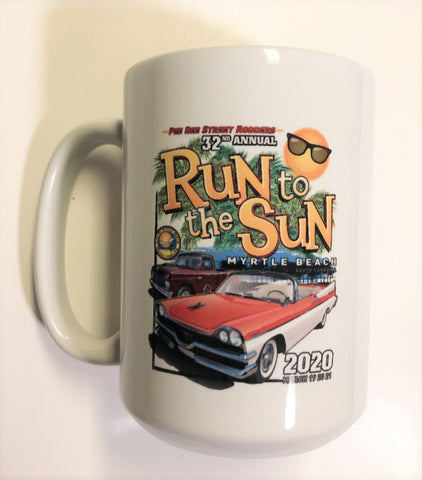 2020 Run to The Sun official car show ceramic coffee mug Myrtle Beach SC