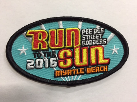 2016 Run to the Sun Hat Patch Myrtle Beach, SC