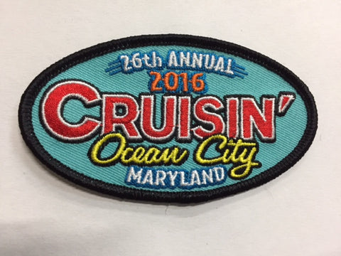 2016 Cruisin Ocean City Hat Patch, Ocean City, Maryland