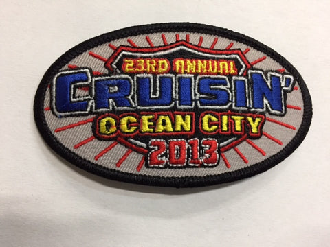 2013 Cruisin Ocean City Hat Patch, Ocean City, Maryland