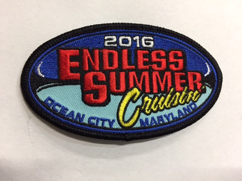 2016 Endless Summer Cruisin Hat Patch, Ocean City, Maryland
