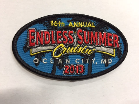 2013 Endless Summer Cruisin Hat Patch, Ocean City, Maryland