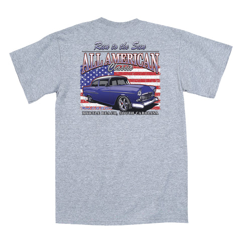 2019 Run to the Sun official car show event t-shirt gray Myrtle Beach, SC