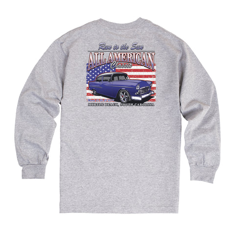 2019 Run to the Sun official car show long sleeve t-shirt gray Myrtle Beach, SC alt