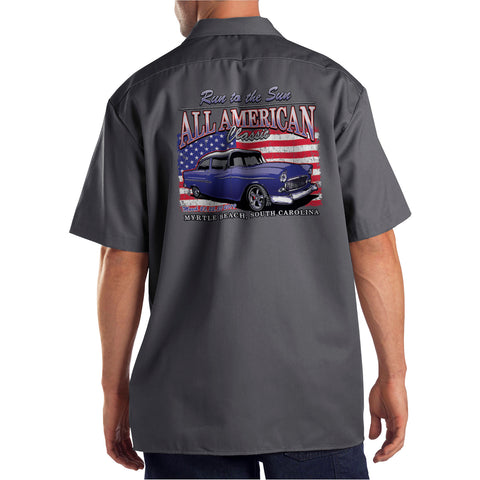 2019 Run to the Sun official car show shop shirt charcoal Myrtle Beach, SC
